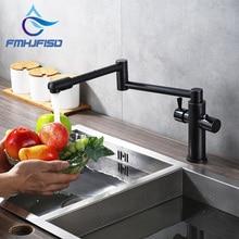 Оптом и в розницу смеситель для кухни ж/Одной ручкой СКЛАДНАЯ воды смесители масло втирают Бронзовый