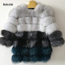 2016 new fashion women's coat color fox fur coat bag mail post transition stitchingNatural fox hair