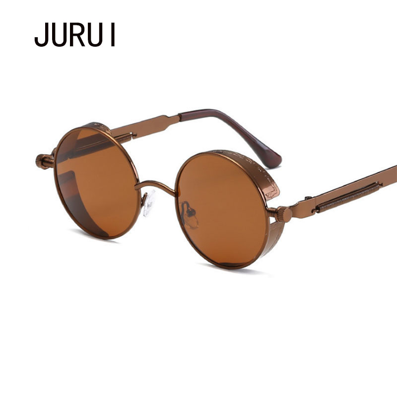 ed81760a39 Steampunk Classic Round Red Circle Sunglasses Mens Mirror Vintage John  Lennon Glasses Shades for Women Driving Metal Eyewear -in Sunglasses from  Apparel ...