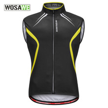 WOSAWE Summer Breathable Cycling Vest Sleeveless Jersey MTB Mountain Bicycle Clothes Bike Cycles Vest for Men Outdoor Sport Vest