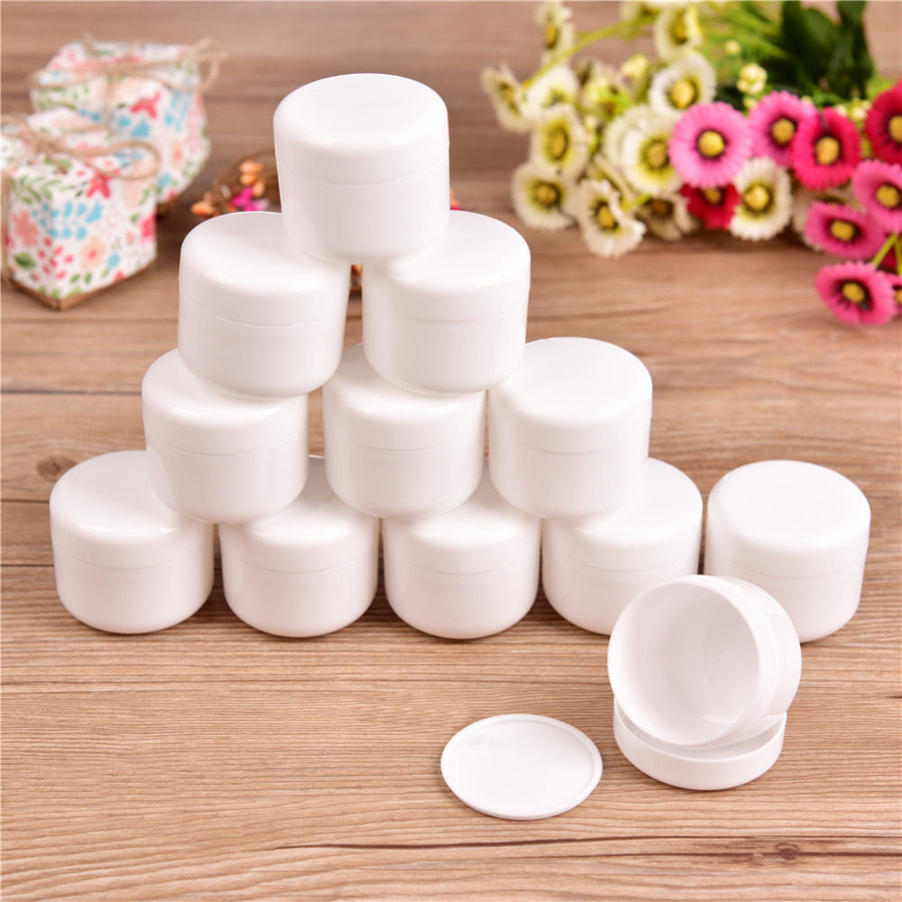 Portable 12pcs 50g Mini Refillable Bottles Cosmetic Empty Cosmetic Jar Pot Eyeshadow Face Cream Container Box Medical Plastic 10pc mini refillable bottles cosmetic empty jar acrylic pot eyeshadow acrylic makeup bottle jar face cream box container storage