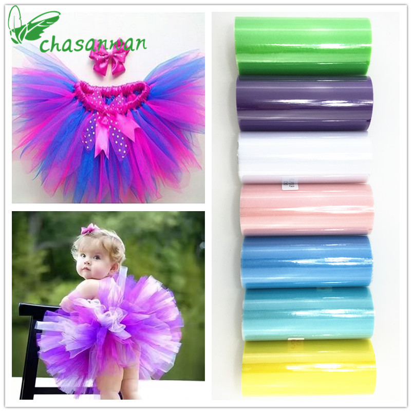 Tulle Roll Fabric Baby Shower 15cm 25m Tulle Roll Bridal Party Wedding Decoration Spool Diy Tutu Baby Shower Birthday Gift Wrap.