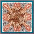100*100cm silk scarf for women 2016 lady spring foral  Silk Satin leopard Scarves Shawl Hijab large square silk scarf shawls