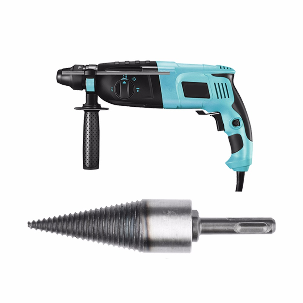 Tools : Percussion drill bit electric hammer drill bit Fast wood splitting rural safe wood breaker tool efficient Splitting wood cone