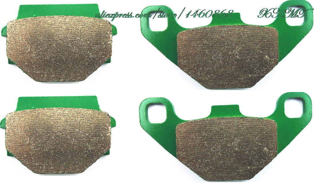Disc Brake Pads Set For Yamaha Atv Yfm90 Yfm 90 R Raptor ( With Rear Parking Brake ) 90cc 2010 2011 2012 2013