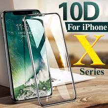 10D زجاج واقي على ل Apple iphone x xr واقي شاشة درع a iphone r s rx xs max xmax tremp aifon 10 10s 10r غلاف حماية(China)