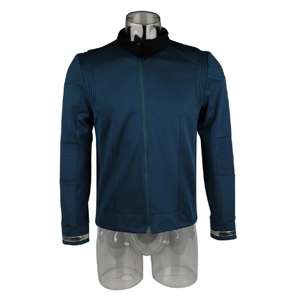 Star Uniform  rek Discovery Season 2 Starfleet Captain Kirk Shirt With Badge Costumes Men Adult Halloween Cosplay Costume