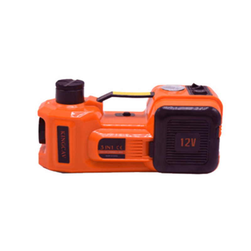 Electric Hydraulic Floor Jack with Electric Impact Wrench VEVOR 12V DC 5T Automatic Car Jack Electric Car Repair Tool Kit Car Electric Jack Battery Clamp
