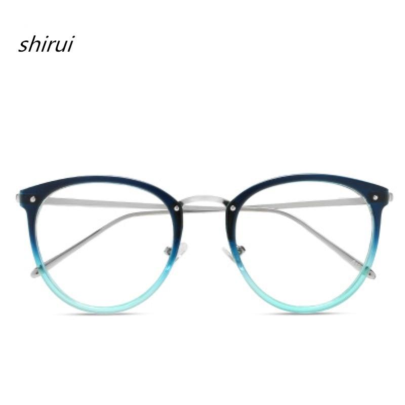 Men's Eyewear Frames 2018 Women Men Retro Myopia Eyeglasses Frame Female Eye Glasses Vintage Optical Glasses Metal Frame Black Blue 9 Colour Men's Glasses