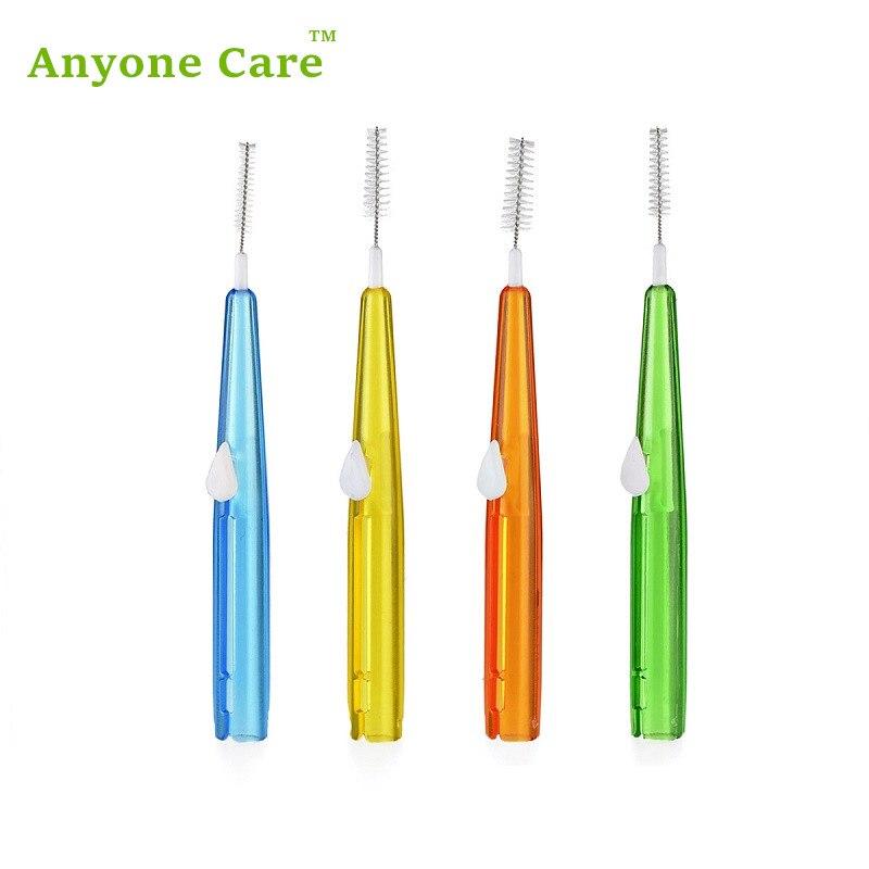 8 шт./упак. Push-Тип зуб Кисточки я типа зубы прямо Кисточки между зубами чистить зубы Gap Межзубные щётки