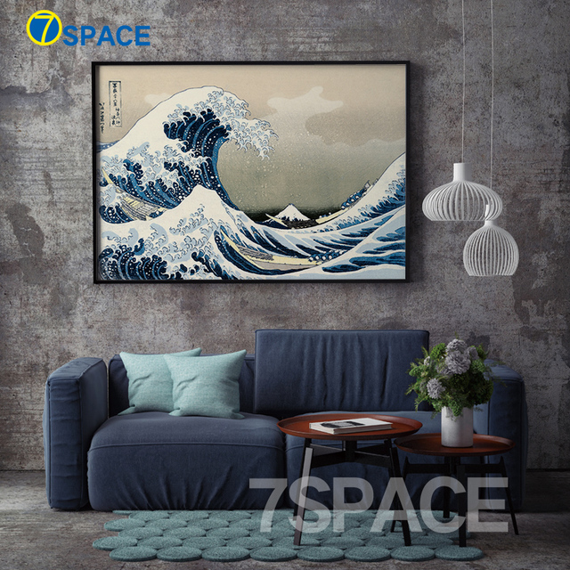 The Great Wave Off Kanagawa Wall Art Canvas Painting Nordic Posters And Prints Retro Poster Wall
