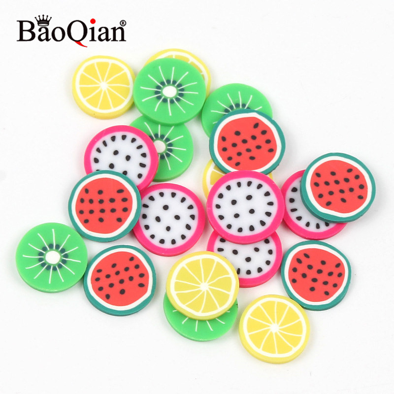 20Pcs/lot 20mm Mixed Fruits Clay Decoration Crafts Flatback Cabochon Scrapbooking Fit Phone Embellishments Diy Accessories(China)
