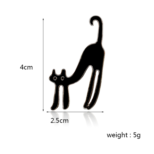 QIHE JEWELRY 4pcs/set Red Blue White Black Cat Pins Brooches Suit Hats Clips Cat Jewelry Animal Design Jewelry