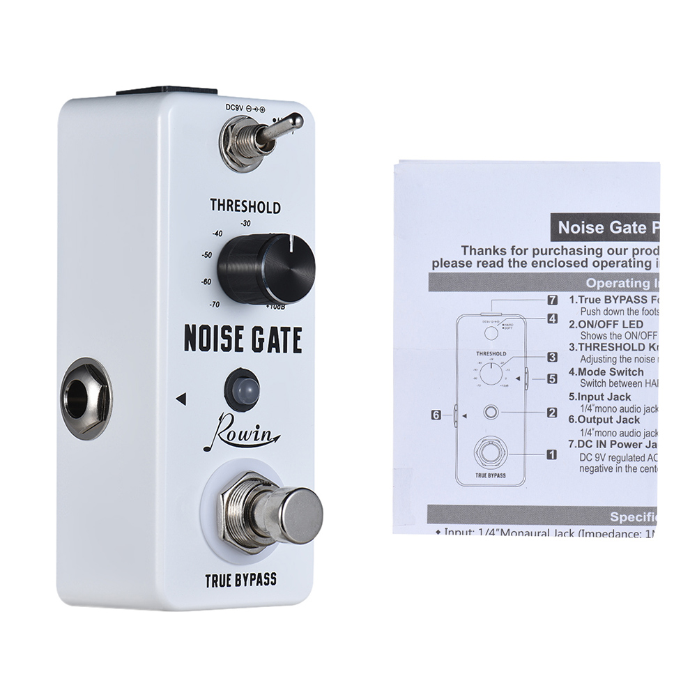 high quality rowin noise gate noise reduction guitar effect pedal 2 modes aluminum alloy shell. Black Bedroom Furniture Sets. Home Design Ideas