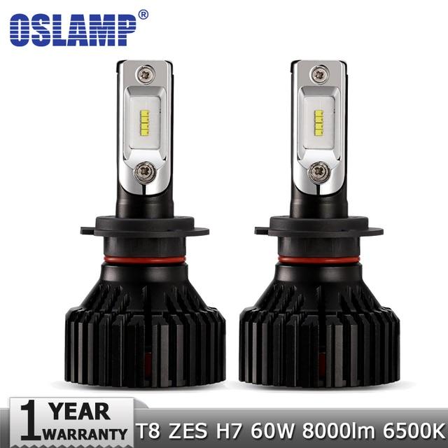 Oslamp H7 Samochodów LED Żarówki Reflektorów ZES 60 w 8000LM 6500 k Auto Reflektor Led Żarówka 12 v 24 v toyota FORD VW Golf VOLVO SKODA