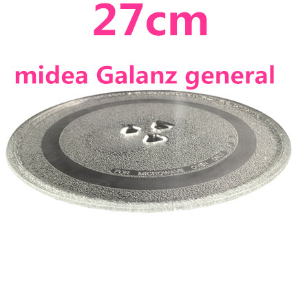 microwave parts Microwave Oven Glass Plate for Galanz Midea etc. 27cm Microwave Oven Parts cover for a microwave oven