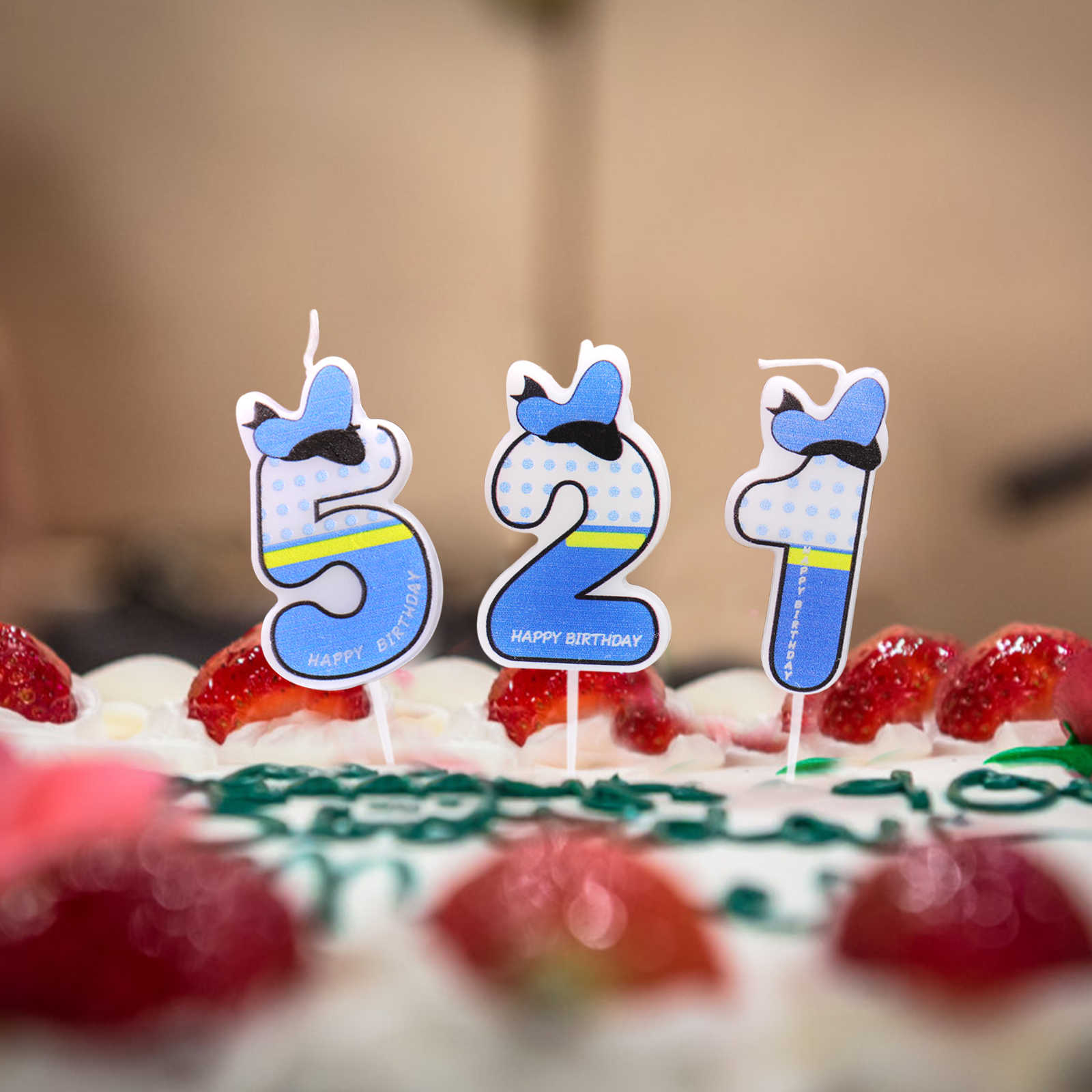 Detail Feedback Questions About Pink Blue Number 0 9 Birthday Party Candles Cake Decoration Childrens Wedding Scene Supplies