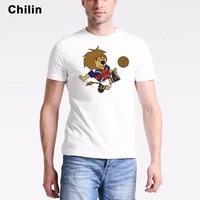 Chilin England T Shirt Mens 1966 World Cup Mascot T-Shirt Fashion Men Animal Lion Tshirt Customized UK Tees Shirts Tops
