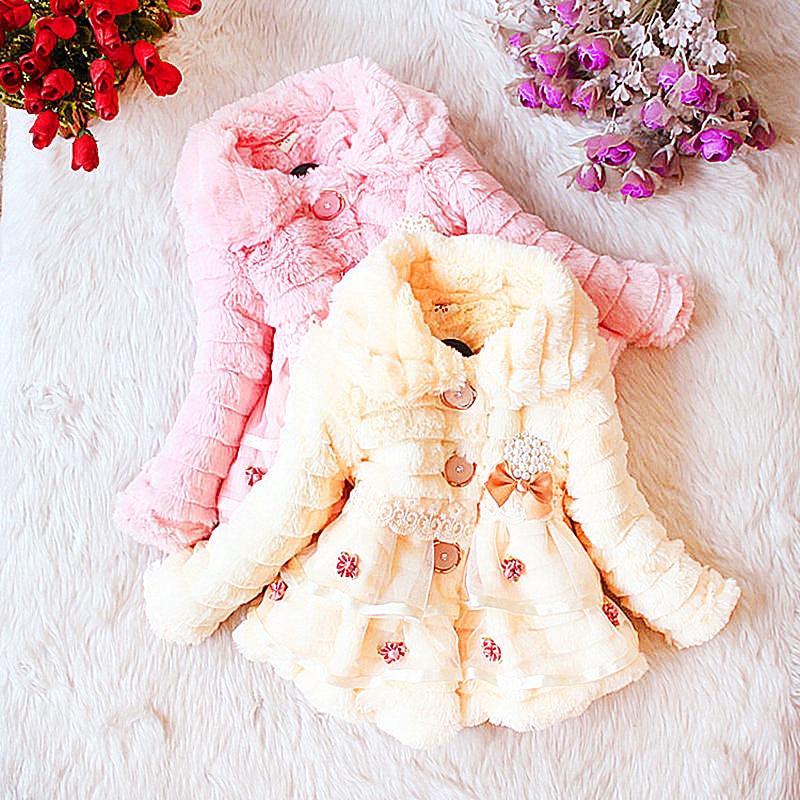 Entrega gratuita de la marca de ropa para niños niñas invierno 2018 niña niño o-cuello prendas de vestir exteriores niño abrigo niña ropa de encaje