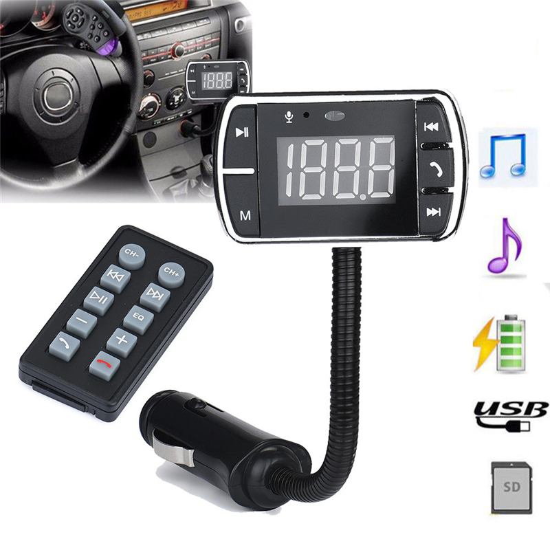 mosunx Car Kit Handsfree Wireless Bluetooth FM