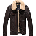 Plus size 2016 New men's brand Genuine Leather sheepskin jacket Short design fashion Lamb Fur collar Leather outerwear / M-5XL