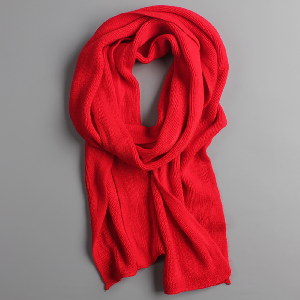 Men Scarf Knit Spring Unisex Classic Thick Warm Winter Scarves Long Size Male Cashmere Warmer Women's Fashion Scarves New