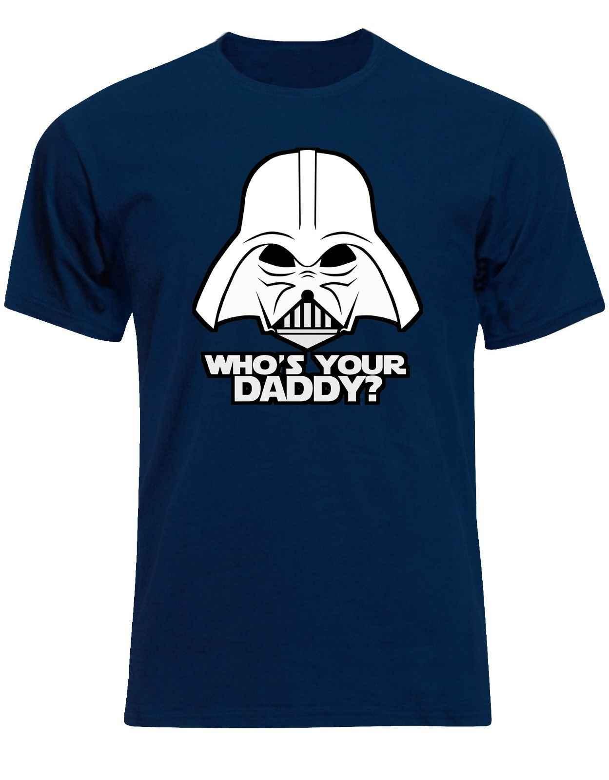 Kim jest twój tatuś Star Wars Darth Vader: ostatni Jedi dzień ojca mężczyzna T koszula AM75 darmowa wysyłka Harajuku topy moda klasyczne