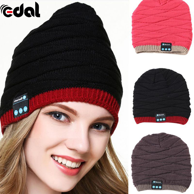 Woman Winter USB Rechargeable Built-in Keep Warm Smart Bluetooth 4.1 Music Knitting Hat With Earphone 4 Colors bluetooth beanie hat and touchscreen gloves knitted bluetooth music hat built in stereo speakers winter hat for outdoor sports