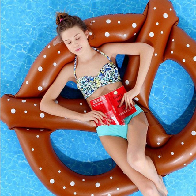 Inflatable Donut Air Mattress Swimming Ring Pool Swimming Bed Toy Adult Kid Pool  Float Buoy Pool