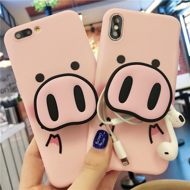 Cute Cartoon Pig Phone Case For iPhone 5