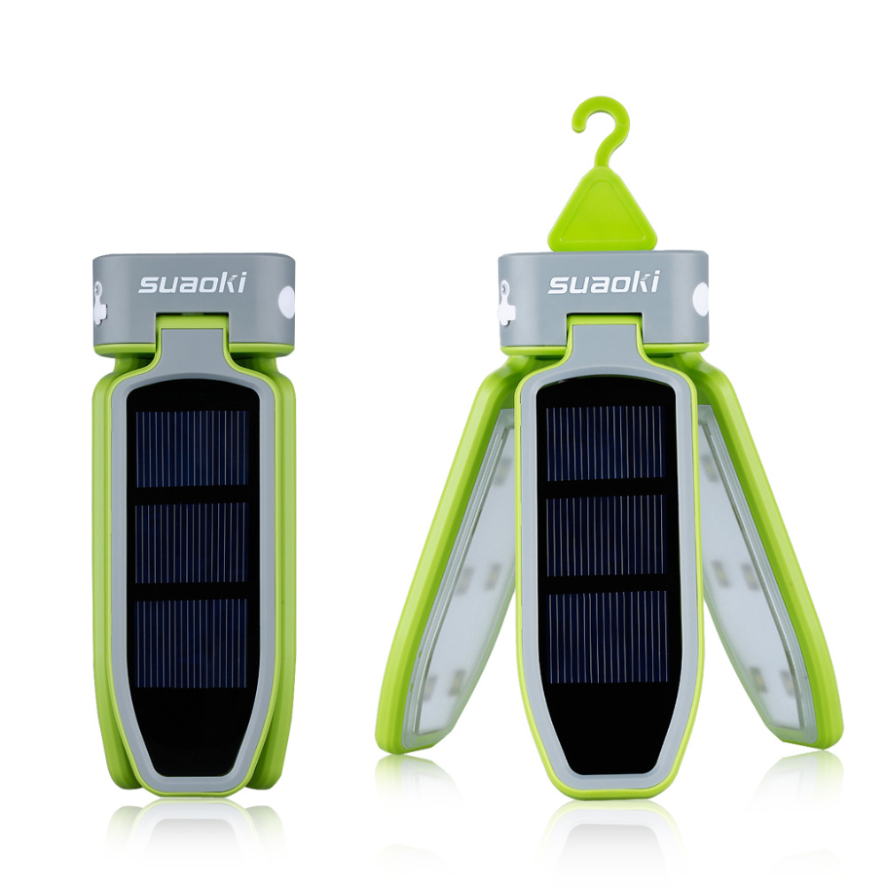 Image 2 - Suaoki Portable Collapsible LED Light USB &Solar Rechargeable Lantern Waterproof LED Light Lantern for Traveling/Camping/Hiking-in Solar Lamps from Lights & Lighting