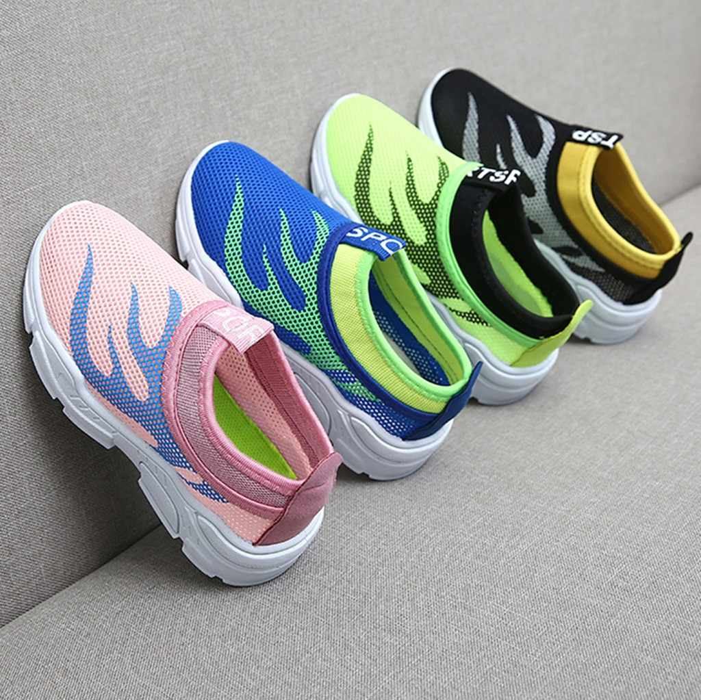 children shoes kids shoes Infant Kids Baby Boys Girls Mesh Fire Print Sport Run Sneakers Casual Shoes boy shoes