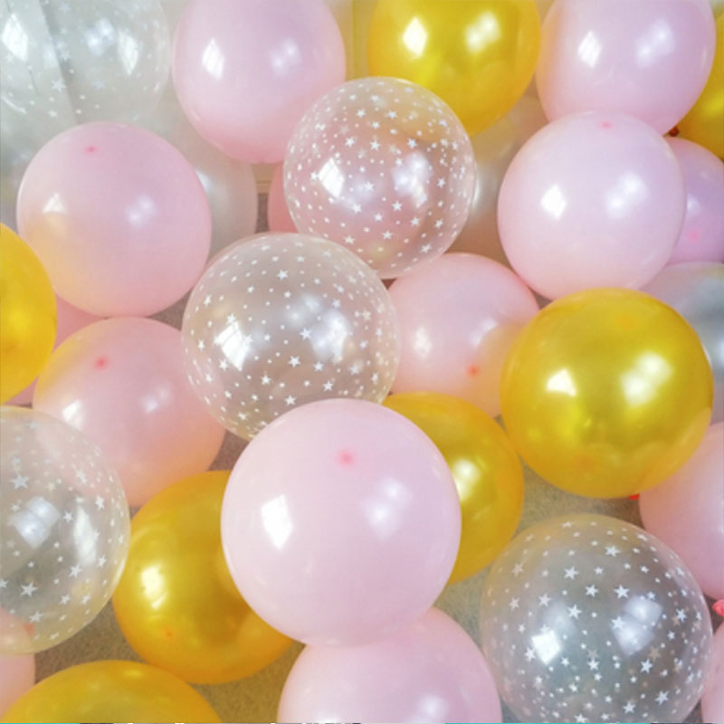 20pcs 12 inch Latex Star Gold Pink Balloon Set For Wedding And Home Decoration 1