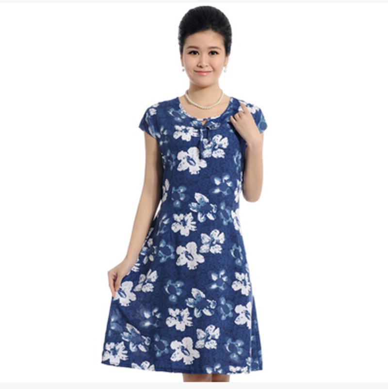 Vestidos 2016 Summer Style Plus Size 4XL 5XL Women Dress Vintage Printed  Desigual Flower Print Dress 0af8184970c5