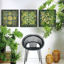 Indian National Pattern 3 Piece Wall Art