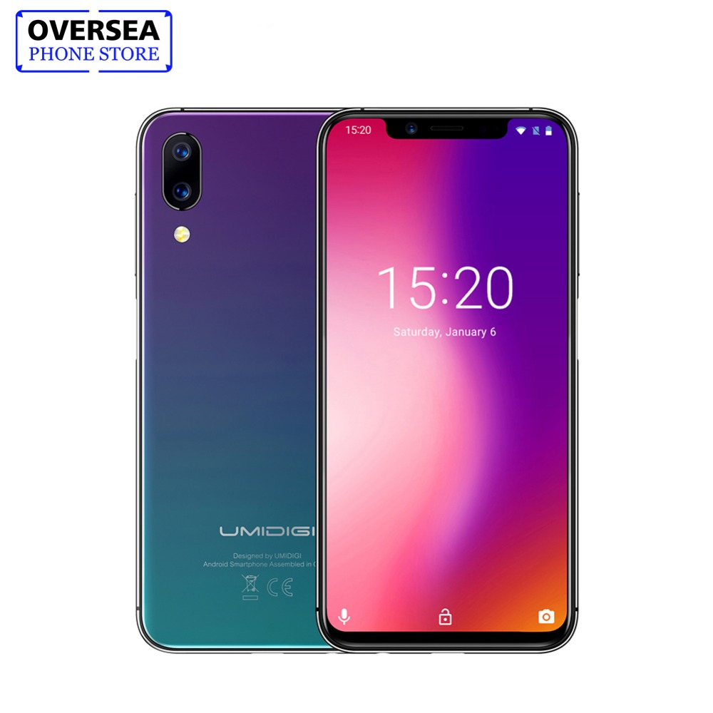 """UMIDIGI ONE 5.9"""" Full-Surface Mobile Phone Android 8.1 P23 Octa Core 4GB 32GB Smartphone 12MP + 5 Million Dual 4G Mobile Phone"""
