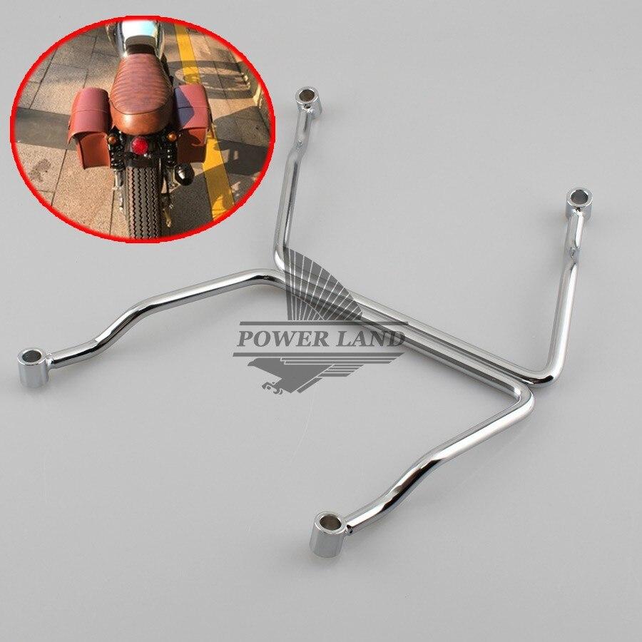 1 paire 24 cm Motos Métal Chrome Selle Sac Barre de Support Supports de Montage pour Kawasaki Vulcan VN 900 VN900