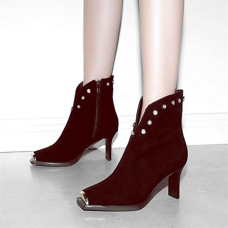 Martin Rivets De Orteil rouge Talons Pour Plates Métal Femmes Tirette Danse En Conasco Hauts 1 Court Noir Cheville Femme Chaussures Bottes formes Partie PvAqxnCfgw