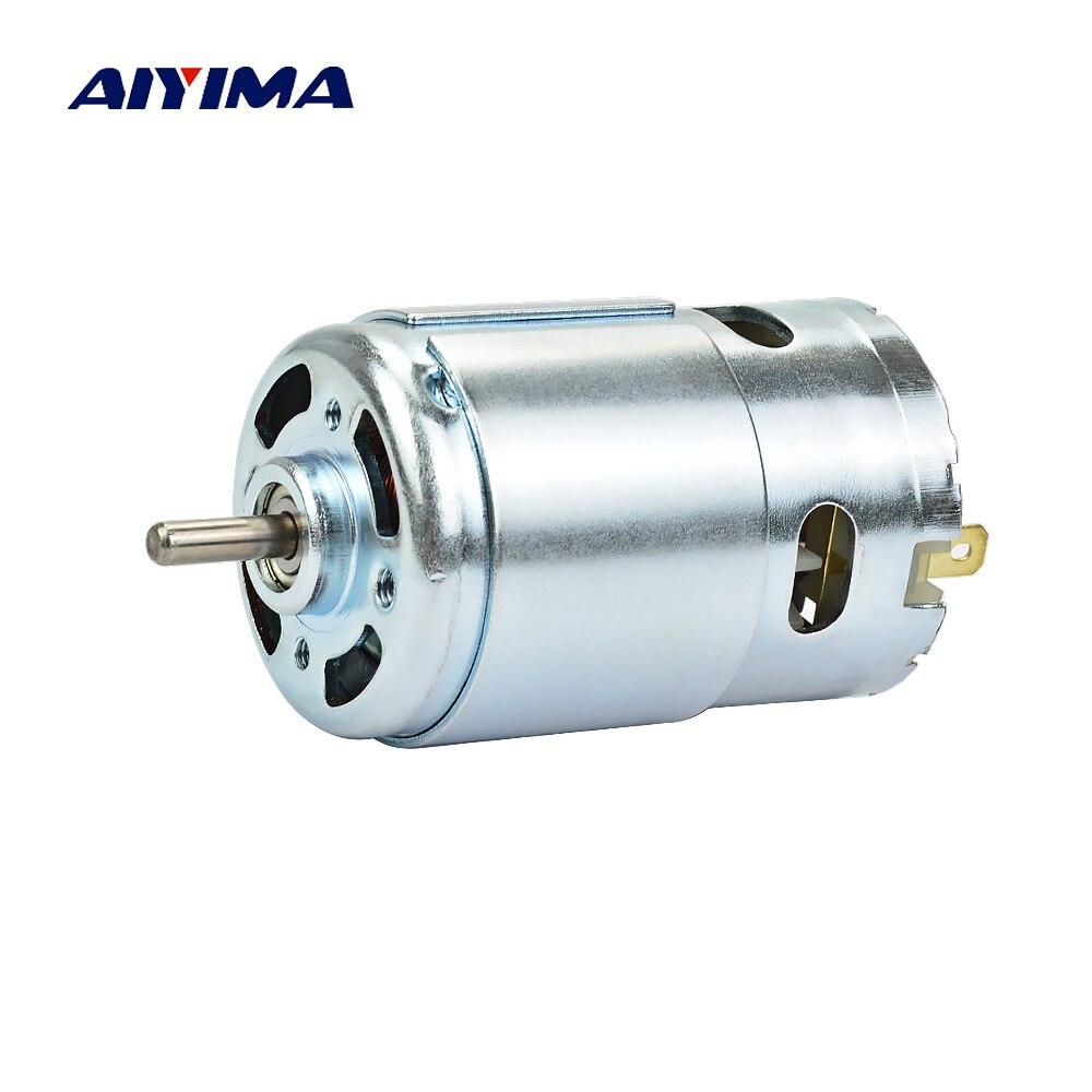 Aiyima Micro 895 DC12-24V 15A 360 W 12000 rpm Gerador De Alta Potência Do Motor Duplo Rolamento De Esferas 775 Atualização Do Motor DC grande Torque