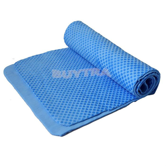 Pva Swim Towel: 80 X 17cm PVA Chilly Pad Cooling Blue Towel For All Sports