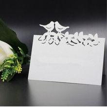 100pcs lot Cut out skeleton Double Birds font b Wedding b font Birthday Party Table font