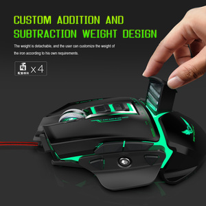 Image 3 - ZERODATE USB wired mouse Ergonomics 3200DPI adjustable Mechanical Mouse Beetle Creative 3D Gaming Mice RGB Cool Backlight Night