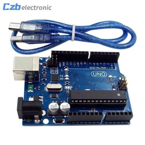 UNO R3 I/O ISP 3.3V 5V ATmega328P Development MEGA328P ATMEGA16U2 Board For Arduino Module Compatible With USB Cable