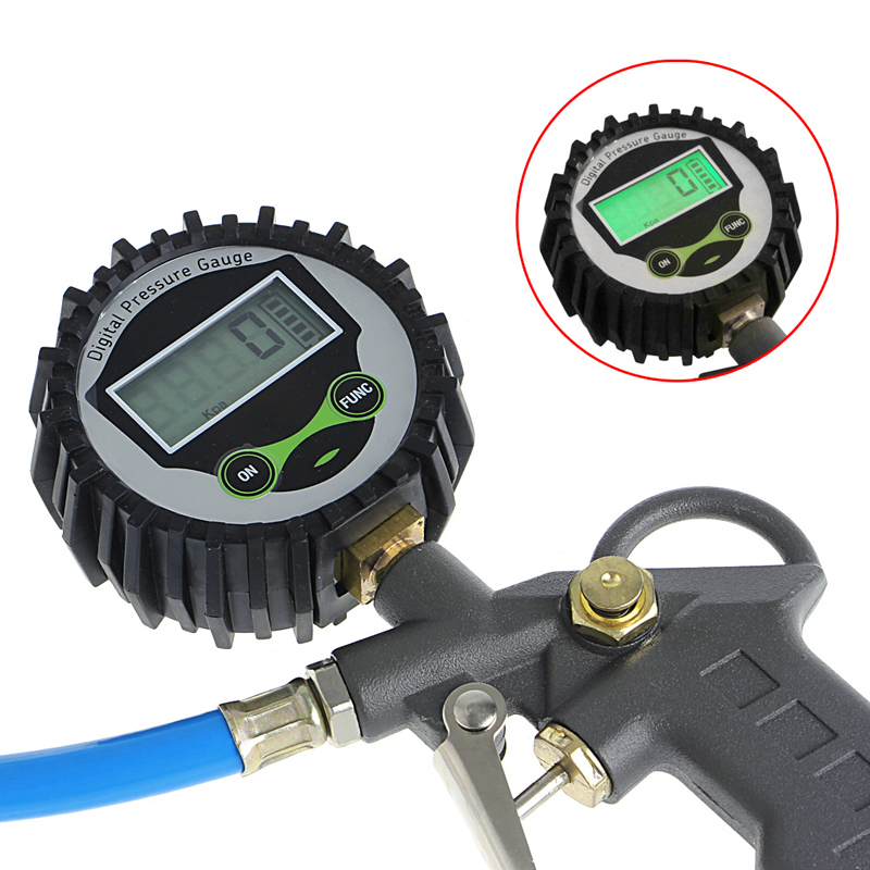 QILEJVS Digital Car Truck Air Tire Pressure Inflator Gauge Dial Meter Vehicle Tester Tyre Inflation Gun Monitoring Tool JUN22