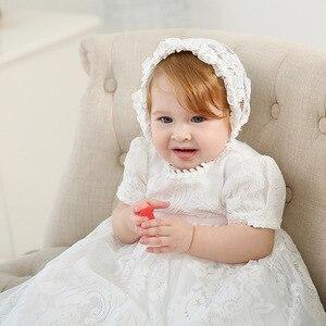 Удлиненное крестильное платье в европейском и американском стиле; Платье на крестины; Детское праздничное платье; Кружевная свадебная одеж...
