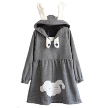 Japanese style young girl series Autumn new collection long sleeve dress soft sister Swallow gird rabbit ears cute autumn dress