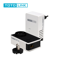 TOTOLINK PL200 KIT 200Mpbs Power Line Adapter With Detachable Plug Gigabit Powerline Adapter Network Iptv Plc