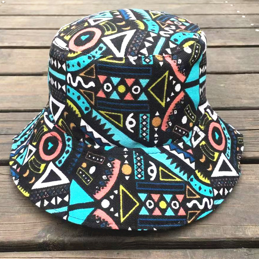 Kpop Bucket Hat Print Safari Modis Women Boonie Fisher hats Female Cap  Cotton Fishing Brim Visor da55d551791f