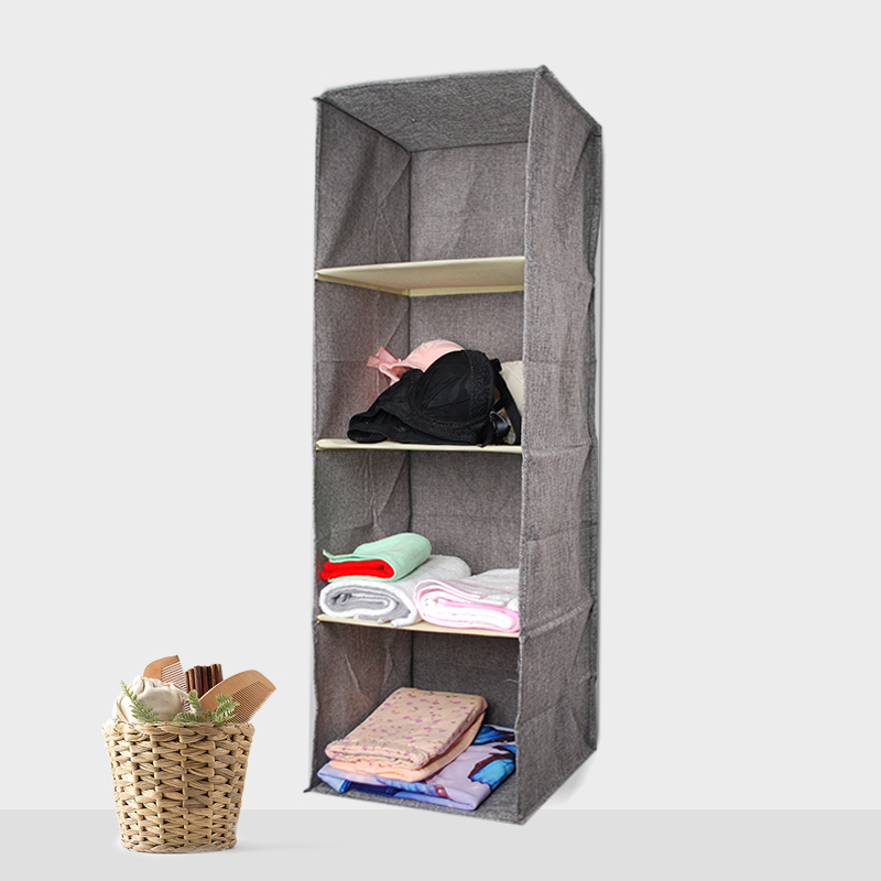 Image 3 - Cotton Closet Wardrobe Cabinet Organizer Hanging Pocket Drawer Clothes Storage Clothing Home Organization Accessories Supplies-in Hanging Organizers from Home & Garden