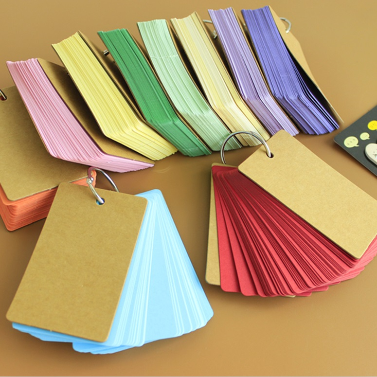 Creative Candy Color Buckle Binder Notes Portable Flash Cards Memo Pads Cute Stationery DIY Blank